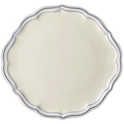 Gien France Gien Filet Bleu Cake Platter