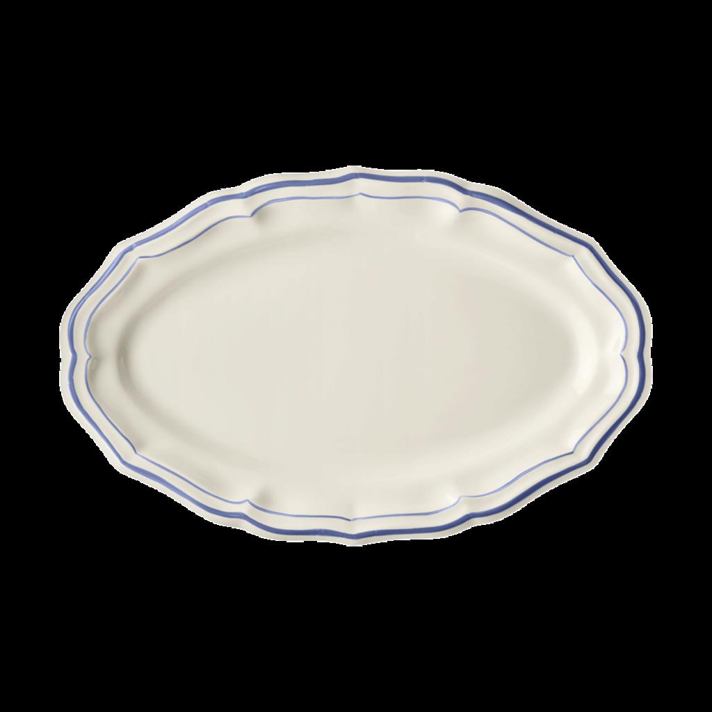 Gien France Gien Filet Bleu Oval Platter