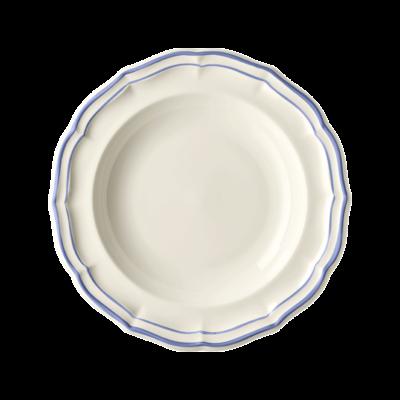 Gien France Gien Filet Bleu Rim Soup Bowl