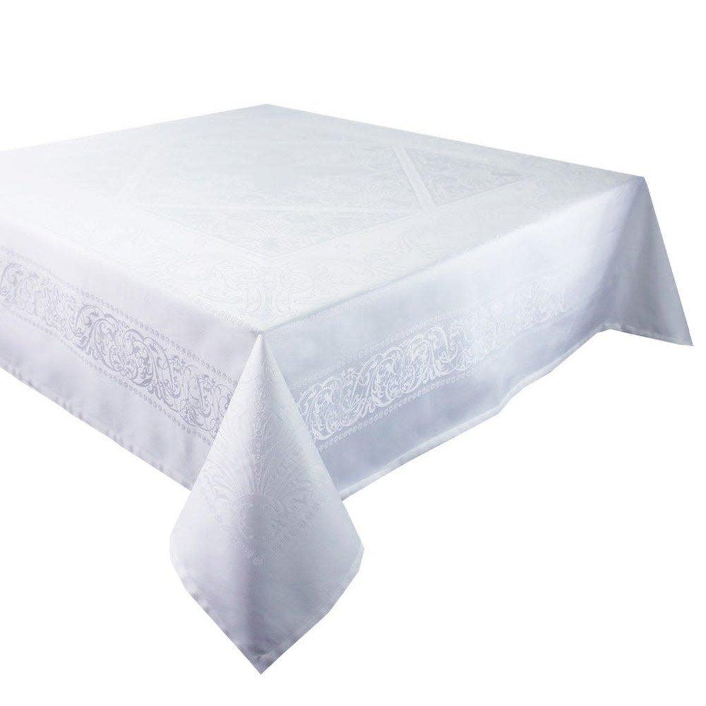 """Garnier Thiebaut Alexandrine Neige 69""""x100"""" Tablecloth"""