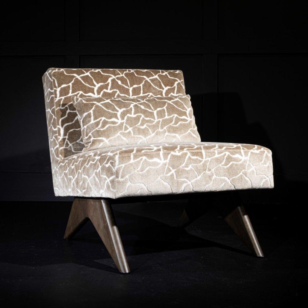 Alder & Tweed Alder & Tweed Cairo Occasional Chair in Turin Topaz