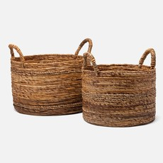 Pigeon & Poodle Pigeon & Poodle Payson Natural, Round Nested Baskets S/2