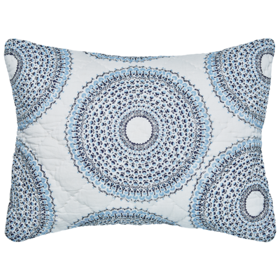 John Robshaw Textiles John Robshaw Lapis quilted standard sham