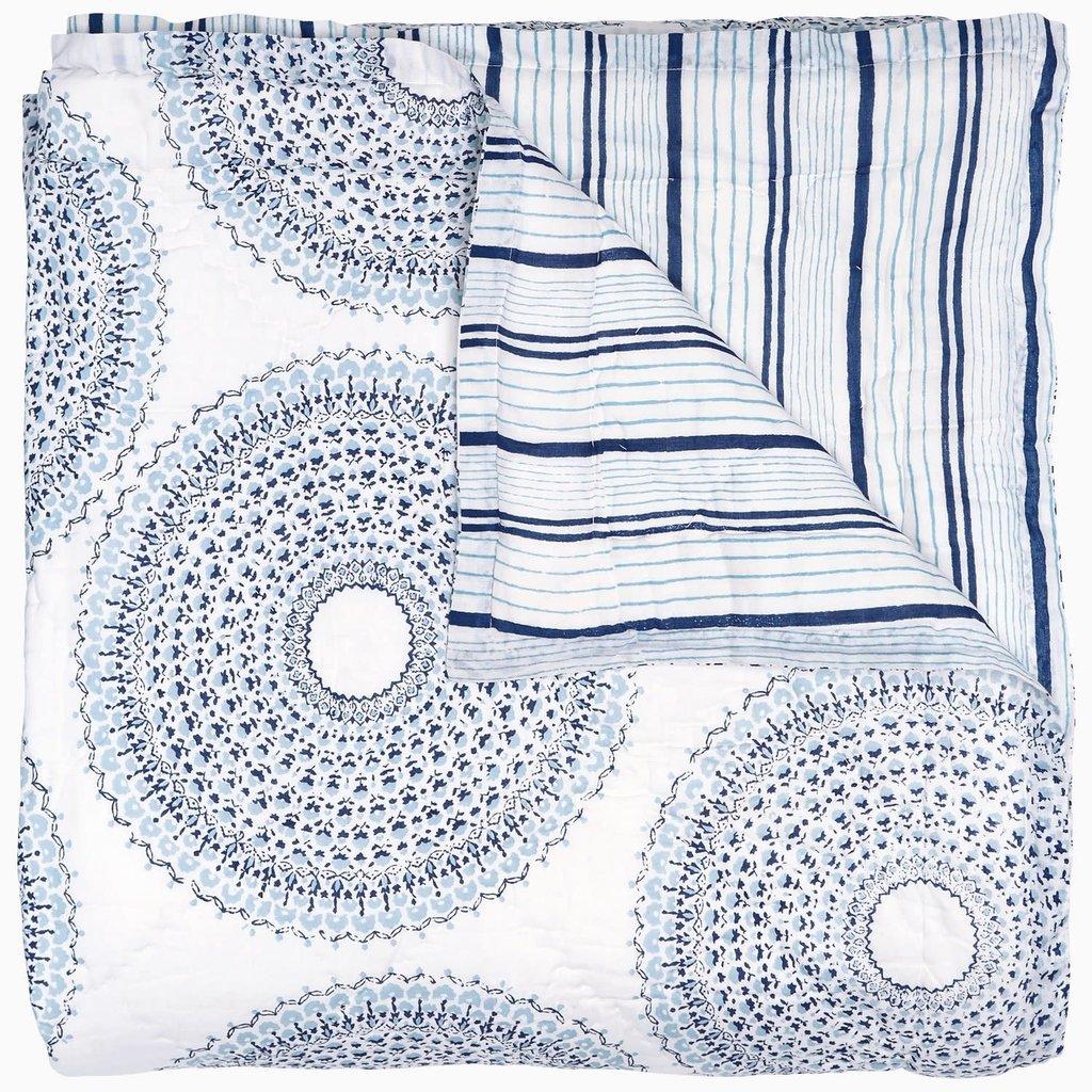 John Robshaw Textiles John Robshaw Lapis twin quilt