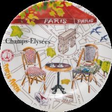 Gien France GIEN S/4 ASST CANAPE PLATES -C'EST PARIS