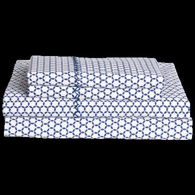 John Robshaw Textiles John Robshaw Kesar Indigo Queen Sheet Set