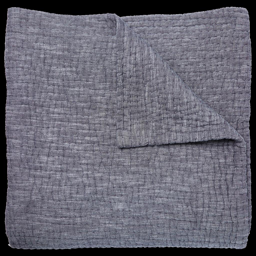 John Robshaw Textiles John Robshaw Vivada Woven Coverlet- Gray