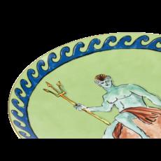 "Richard Ginori Ginori 1735 Il Viaggio Di Netunno Moss Green Centerpiece Charger 33 cm, 13"""