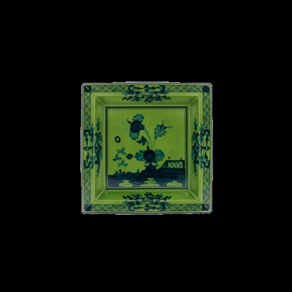 """Richard Ginori Ginori 1735 Oriente Italiano Malachite Large Squared Vide Poche 24.5cm, 9.5"""""""