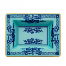 "Richard Ginori Ginori 1735 Oriente Italiano Iris Rectangle Vide Poche 6 x 7.5"""