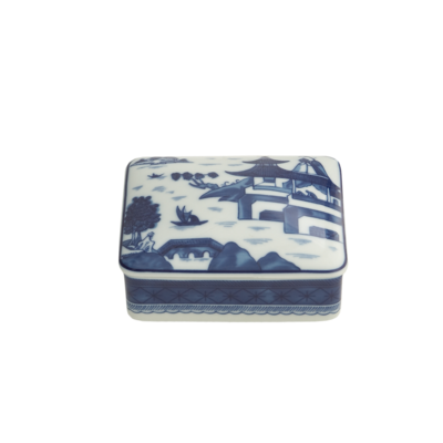 Mottahedeh Mottahedeh Blue Canton Rectangular Box Small