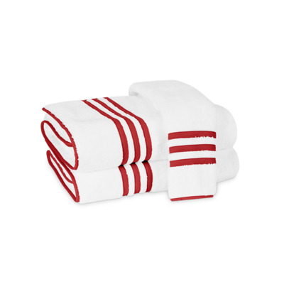 Matouk Matouk Newport Guest Towel red