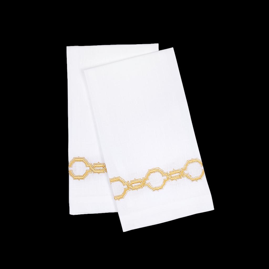 Matouk Matouk Marrakech Guest Towel Pair, on Linen Gold