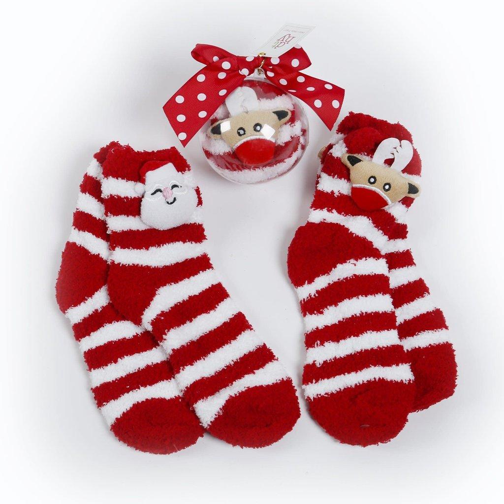 DTHY DTHY Santa/Reindeer Sock