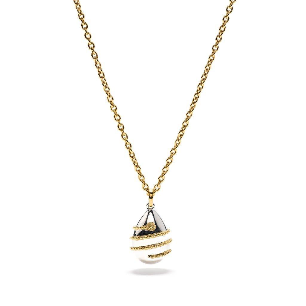 Capucine De Wulf Lily Dew Drop Pendant Necklace Gold/Silver