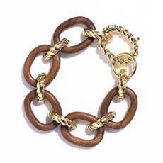 Capucine De Wulf Earth Goddess Teak Link Bracelet