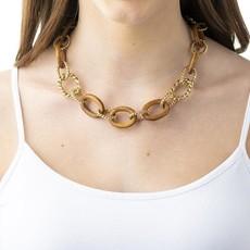 Capucine De Wulf Earth Goddess Teak Link Necklace