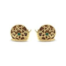 Capucine De Wulf Sarita Snail Stud Earrings