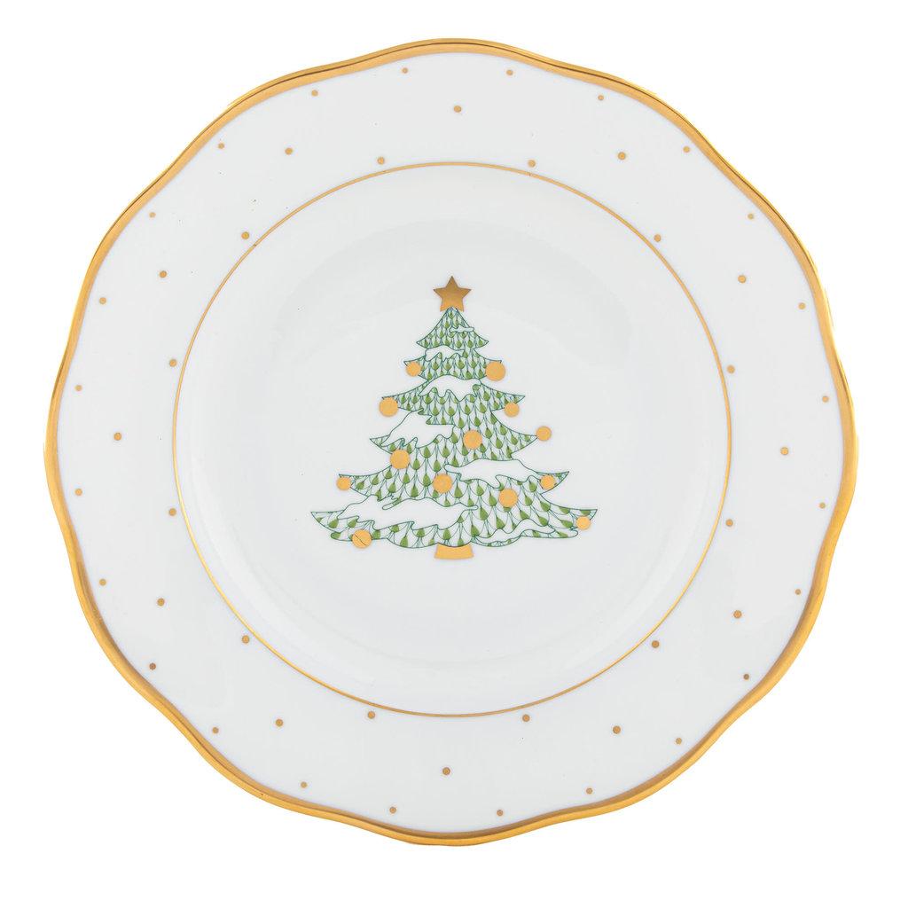 Herend Christmas Tree Dessert Plate