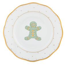 Herend Christmas Gingerbread Dessert Plate