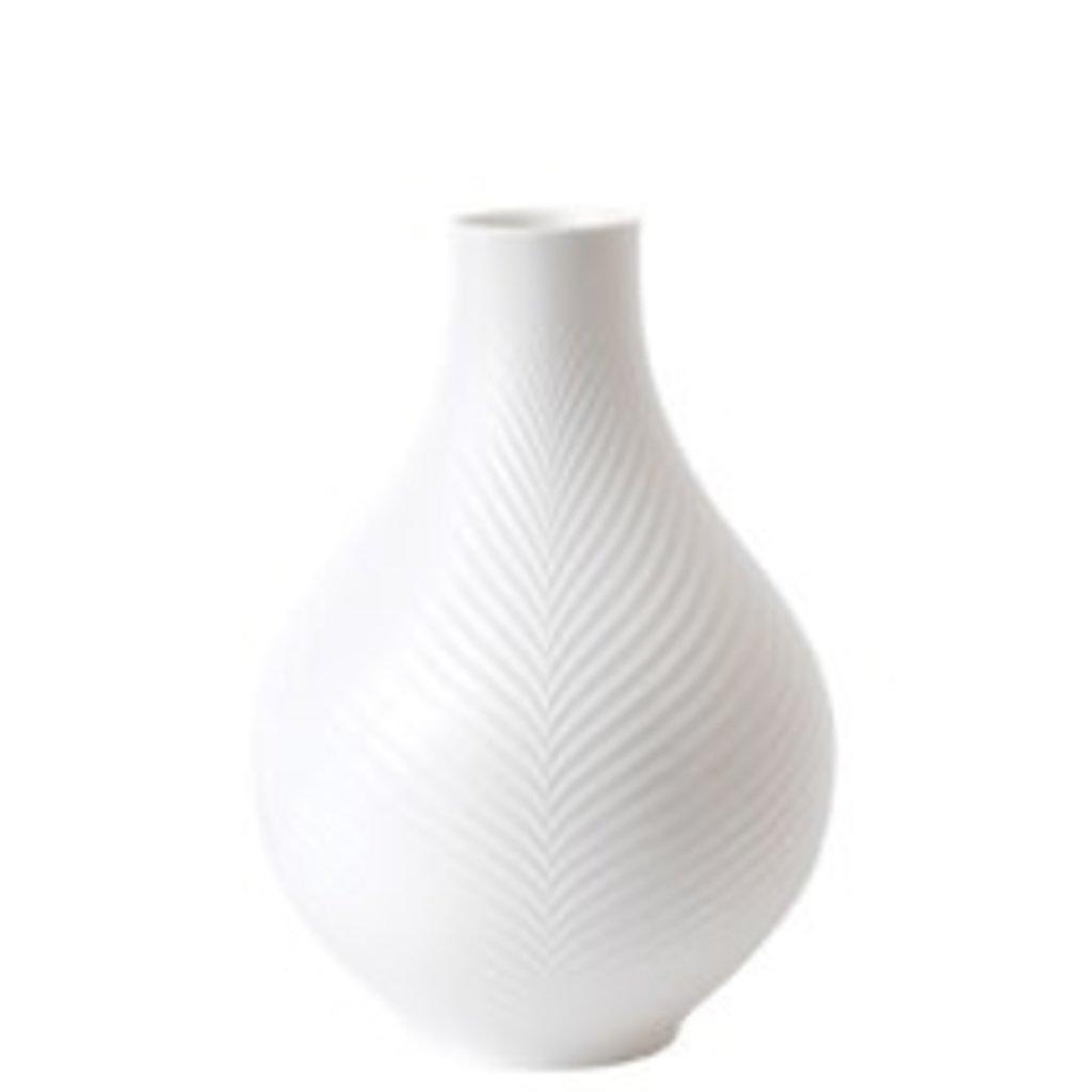 Wedgwood Wedgwood white folia bulb vase