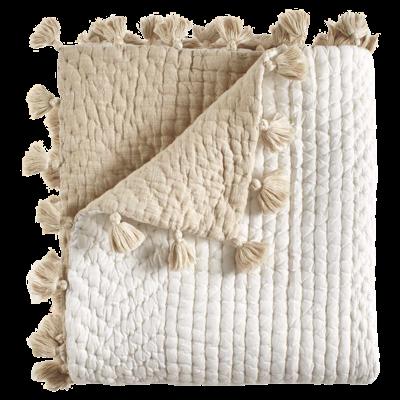John Robshaw Textiles John Robshaw Sahati Sand Hand Stitched Throw 50 x 70