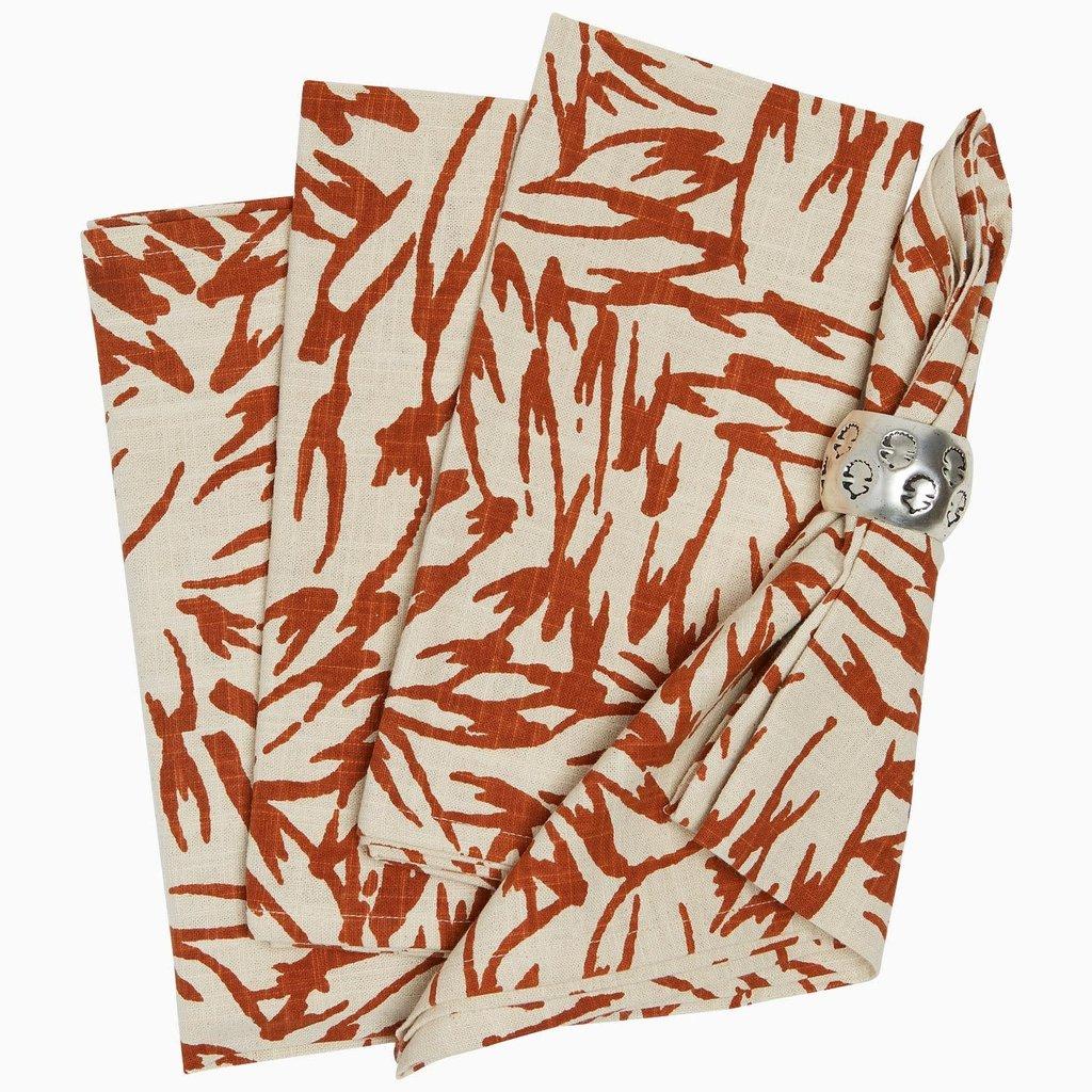 John Robshaw Textiles John Robshaw Vetanna Copper Napkins Set of 4 22 x 22