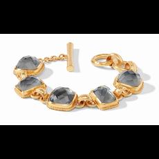 Julie Vos Julie Vos Savoy Demi Bracelet Gold Iridescent Charcoal Blue