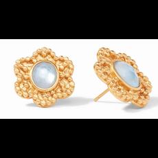 Julie Vos Julie Vos Colette Statement Earring Gold Iridescent Charcoal Blue