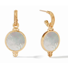 Julie Vos Julie Vos Meridian Hoop and Charm Earring Gold/Mother of Pearl