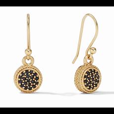 Julie Vos Julie Vos Windsor Earring Gold Pave Obsidian Black