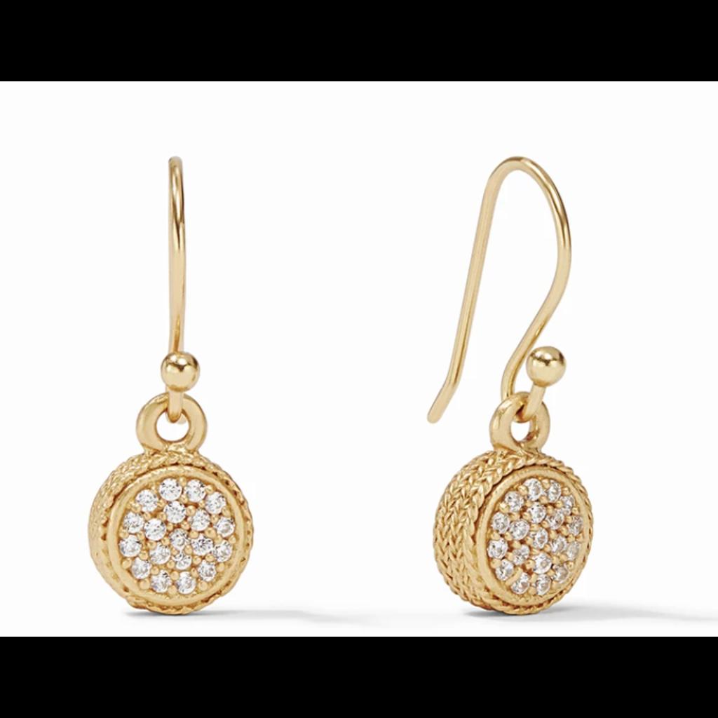 Julie Vos Julie Vos Windsor Earring Gold Pave Cubic Zirconia