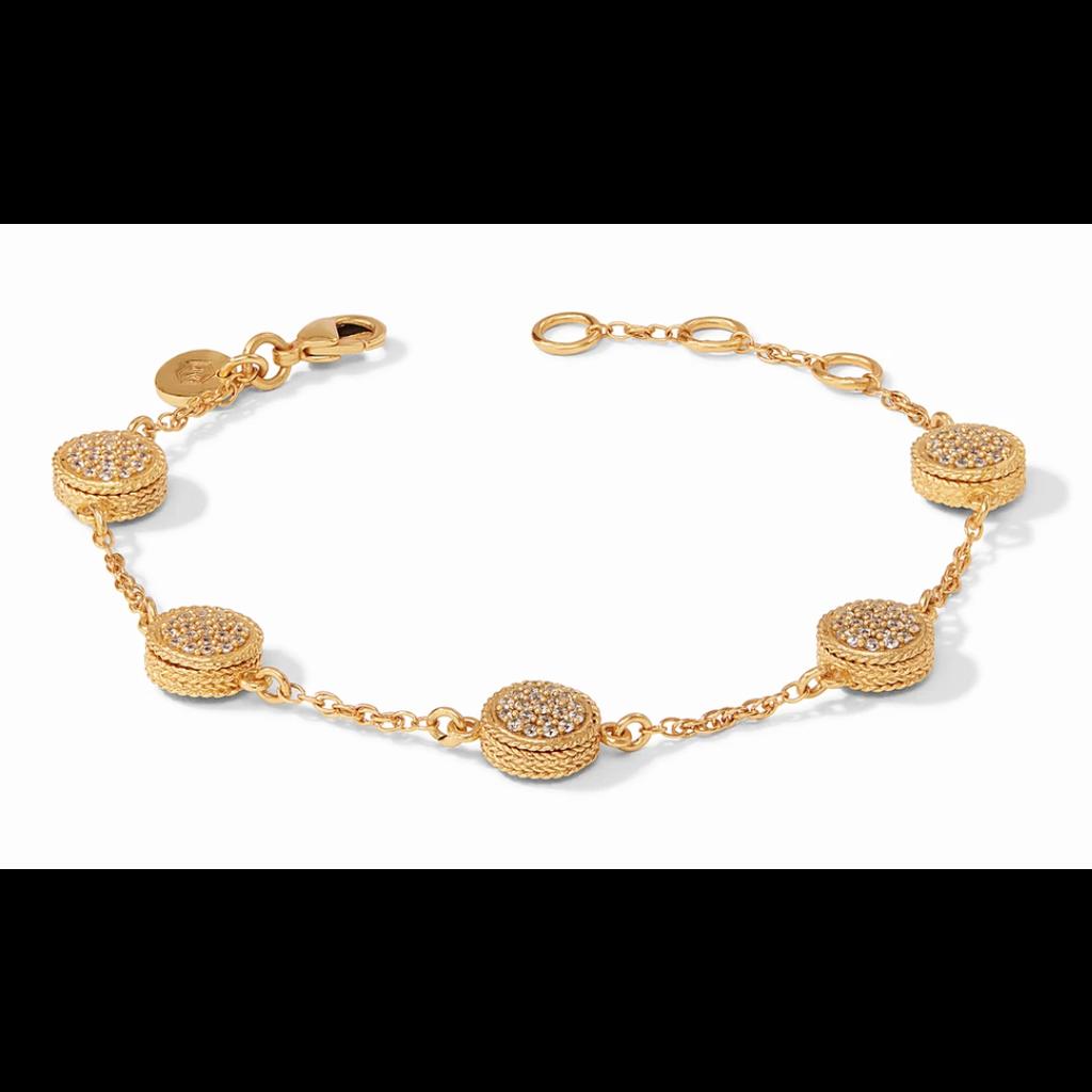 Julie Vos Julie Vos Windsor Delicate Bracelet Gold Pave White CZ