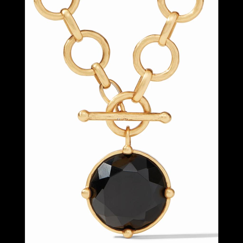 Julie Vos Julie Vos Honeybee Statement Necklace Gold Obsidian Black Reversible