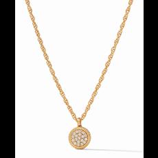 Julie Vos Julie Vos Windsor Delicate Necklace Gold Pave Cubic Zirconia/Pave Obsidian Black Reversible