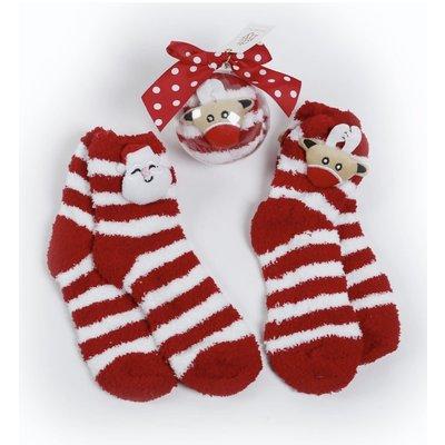 Deck The Halls Y'all Socks In Ornament Gift (Reindeer)