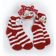Deck The Halls Y'all Socks In Ornament Gift (Santa)