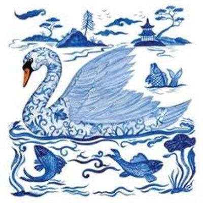 Paperproducts Design PPD Beverage Napkin - Empress's Swan
