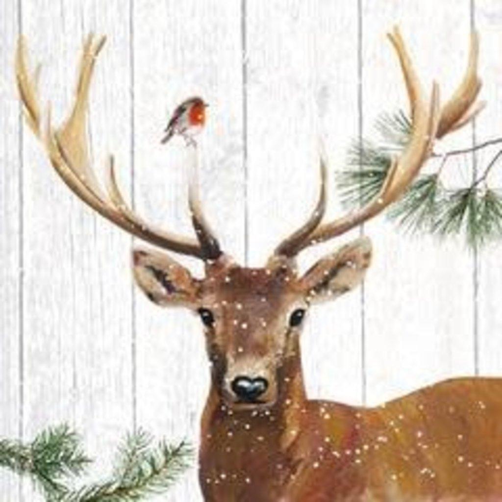 Paperproducts Design PPD Beverage Napkin - Robin & Deer