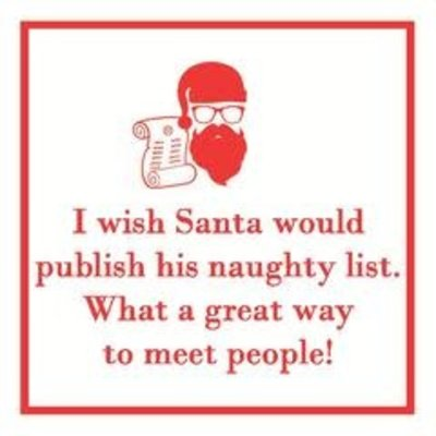 Paperproducts Design PPD Beverage Napkin - Naughty List