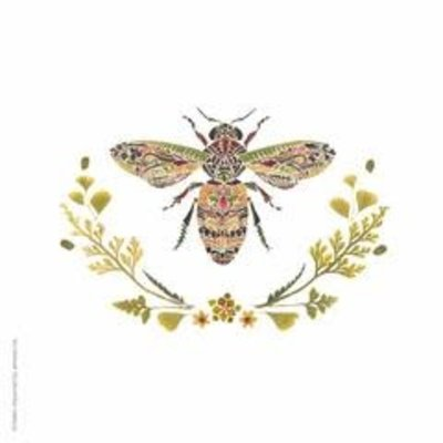 Paperproducts Design PPD Beverage Napkin - Green Bee