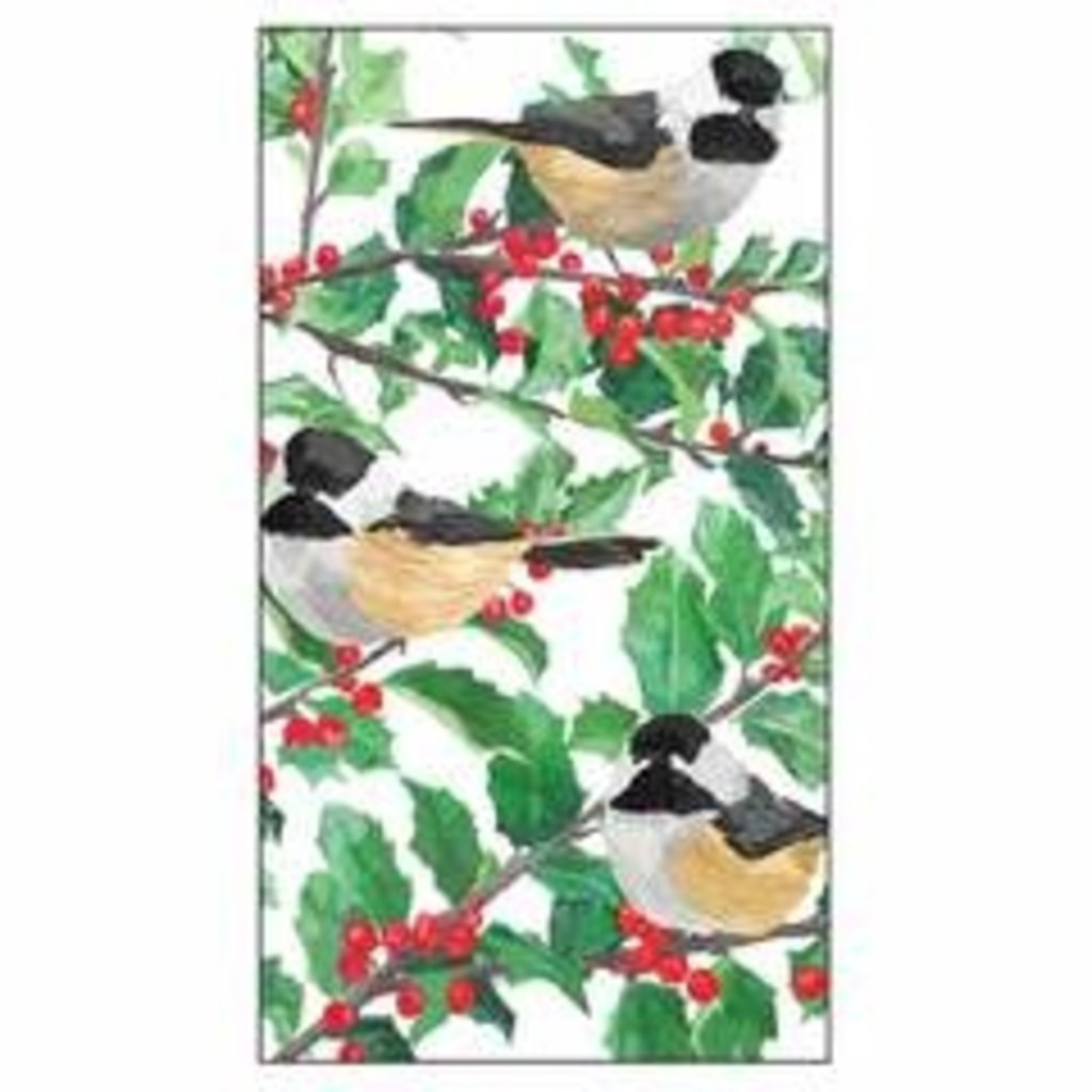 Paperproducts Design PPD GT- Yuletide Chickadees White