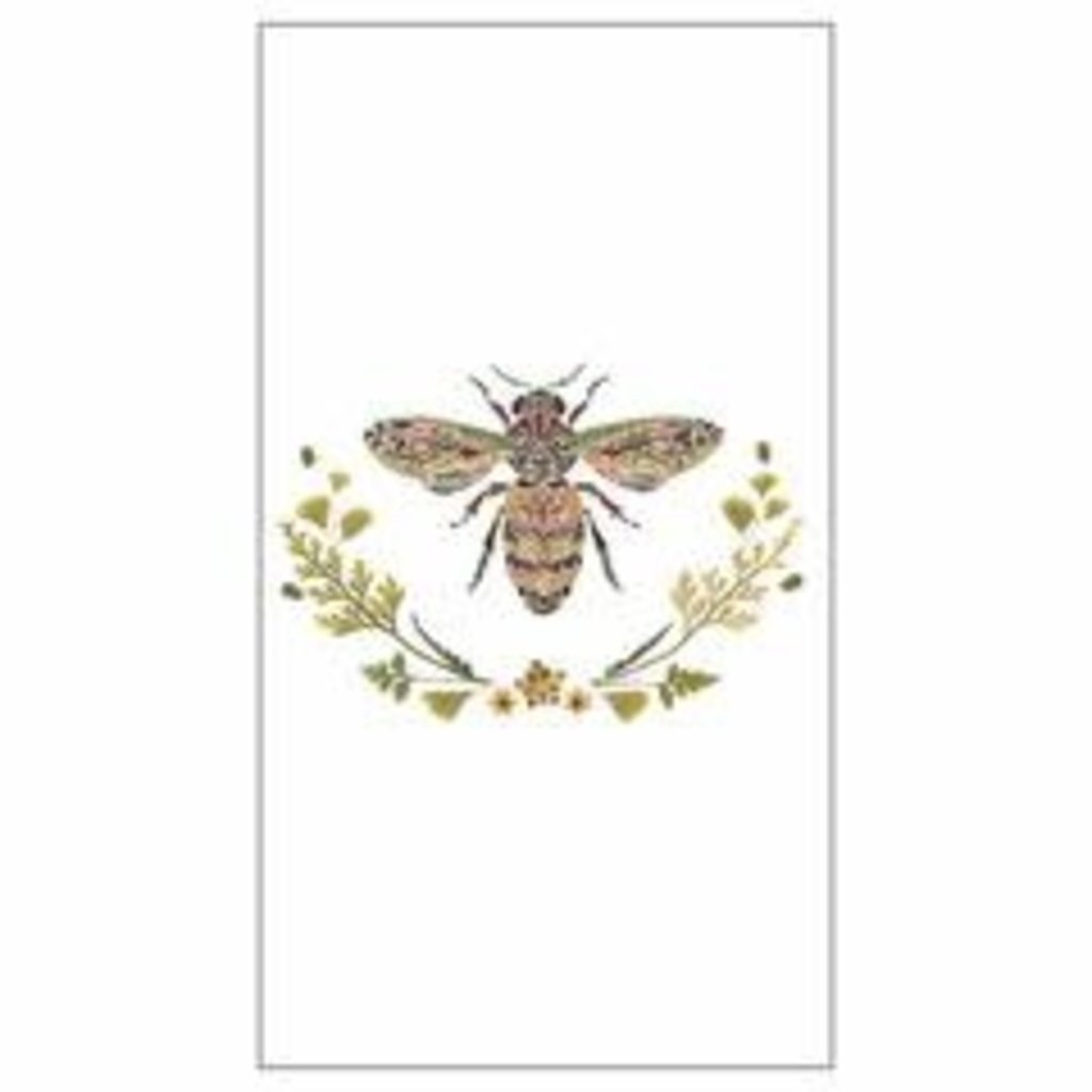Paperproducts Design PPD Guest Towel - Green Bee