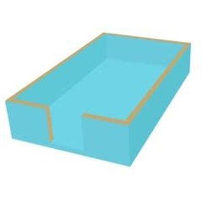Paperproducts Design PPD Guest Towel caddy- Aqua/gold