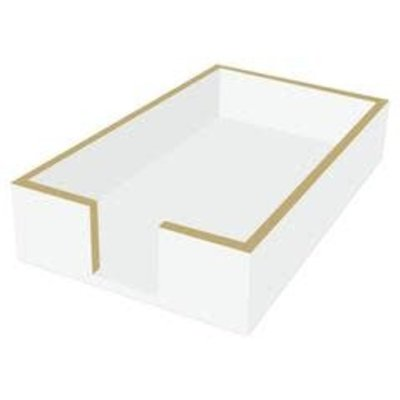 Paperproducts Design PPD Guest Towel Caddy - White/gold