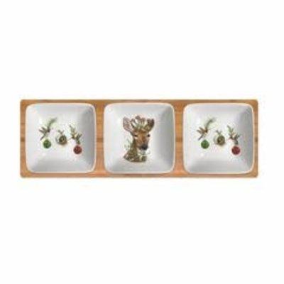 Paperproducts Design PPD Dipping Dish Set - Christmas Princess