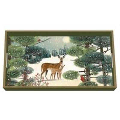 Paperproducts Design PPD Wooden Vanity Tray - Holiday Meadow