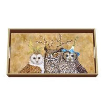 Paperproducts Design PPD Wooden Vanity Tray - Owl Family