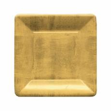 Caspari CASPARI GOLD LEAF SQ SALAD/DESSERT PLATES