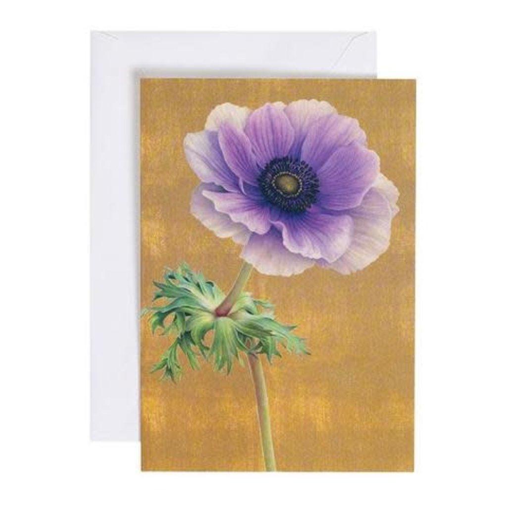 Caspari Caspari Greeting Card - Purple Anemone